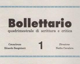 «Bollettario.Quadrimestrale di scrittura e critica»