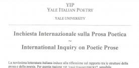 Partecipazione ad una iniziativa di Yale Italian Poetry, settembre 2004