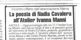 La poesia di Nadia Cavalera all'Atelier Ivana Manni