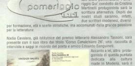 """Nadia Cavalera intervistata a """"Pomeriggio qui """", condotto da Maria Cristina Martinelli"""