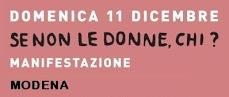 Le donne in piazza anche a Modena