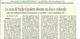 La casa di Nadia Cavalera diventa un foyer culturale