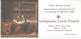 Riapertura della Libreria antiquaria Lucia Panini, Modena 20 novembre 2010
