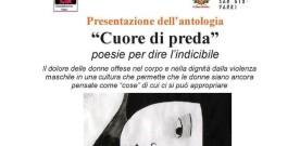"""""""Cuore di preda"""", presentazione a Pesaro il 19 gennaio"""