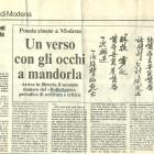 Roberto Alessandrini su Bollettario n.2, Gazzetta di Modena, 15 giugno 1990