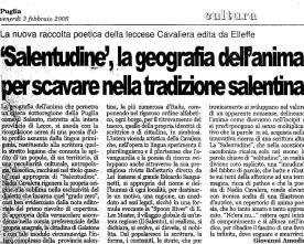 """Giovanni Amodio su """"Salentudine"""""""
