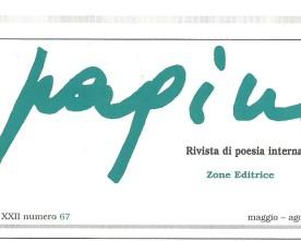 "Su ""PAGINE"" N.67, Nadia Cavalera poeta ospite"