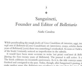 "Sanguineti, Founder and Editor of ""Bollettario"""