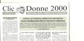 Clic Donne 2000, Anno XV n.2 Aprile-giugno 2014
