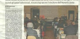 GAZZETTA di MODENA, 26 aprile 2014, sul  Premio Tassoni