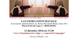Umafeminità, a Roma, Lavatotoio contumaciale, 13.12.014