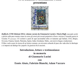 Keffiyeh, presentazione a Milano, 10 dicembre