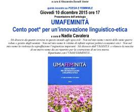 Umafeminità, a Firenze. Presentazione alla biblioteca Mario Luzi