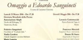 Omaggio a Edoardo Sanguineti, Roma 21 marzo 2016