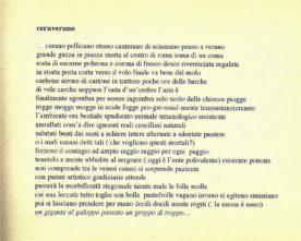 """Ceraverano di Nadia Cavalera (da """"Brogliasso"""", 1996) dedicata alla Centrale a carbone di Brindisi"""